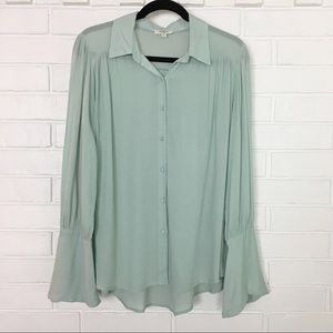 Umgee Light Blue Small Boho Loose Blouse